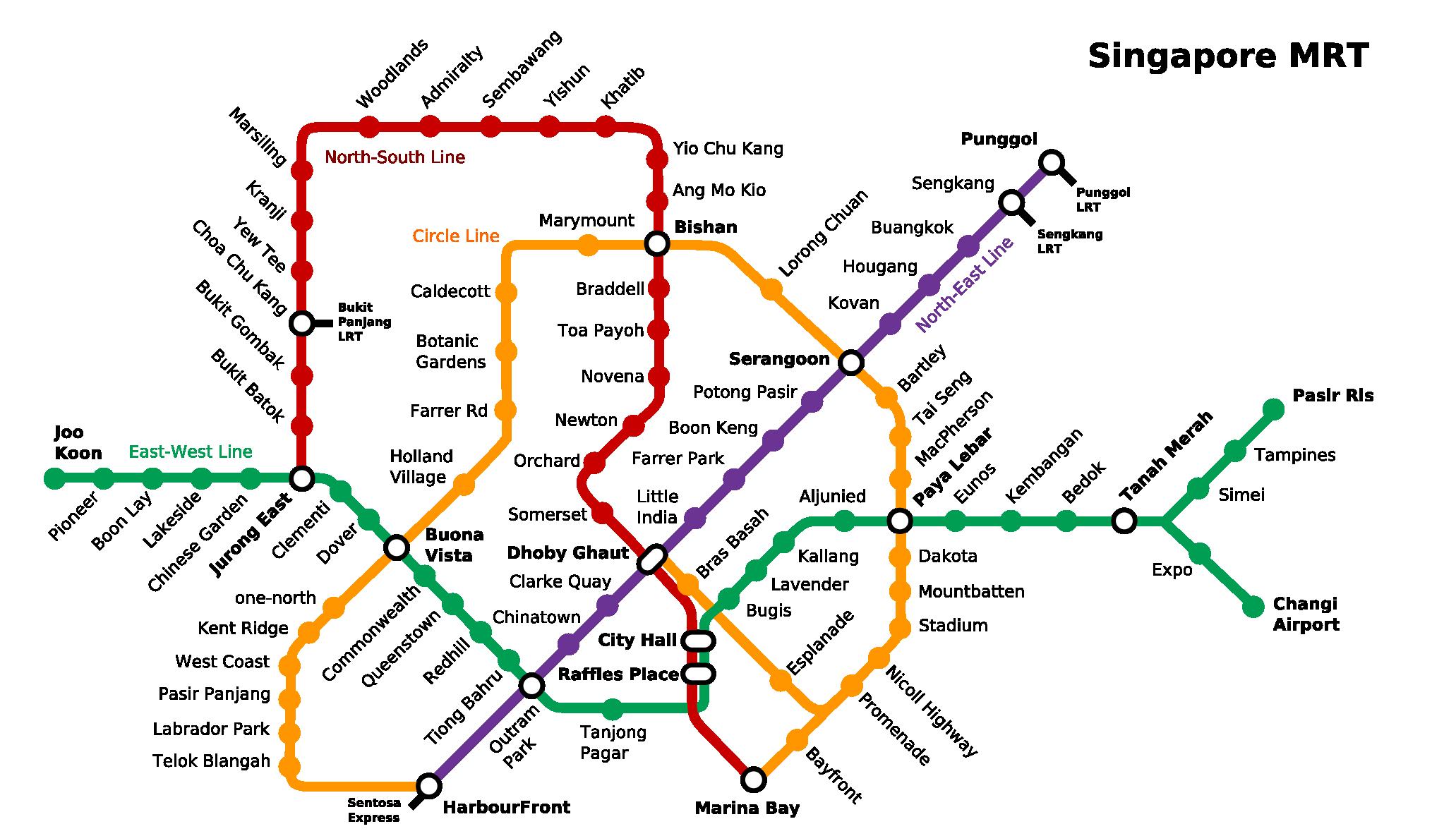 20 SMRT Maps of Singapore Singapore map, Singapore, Ang