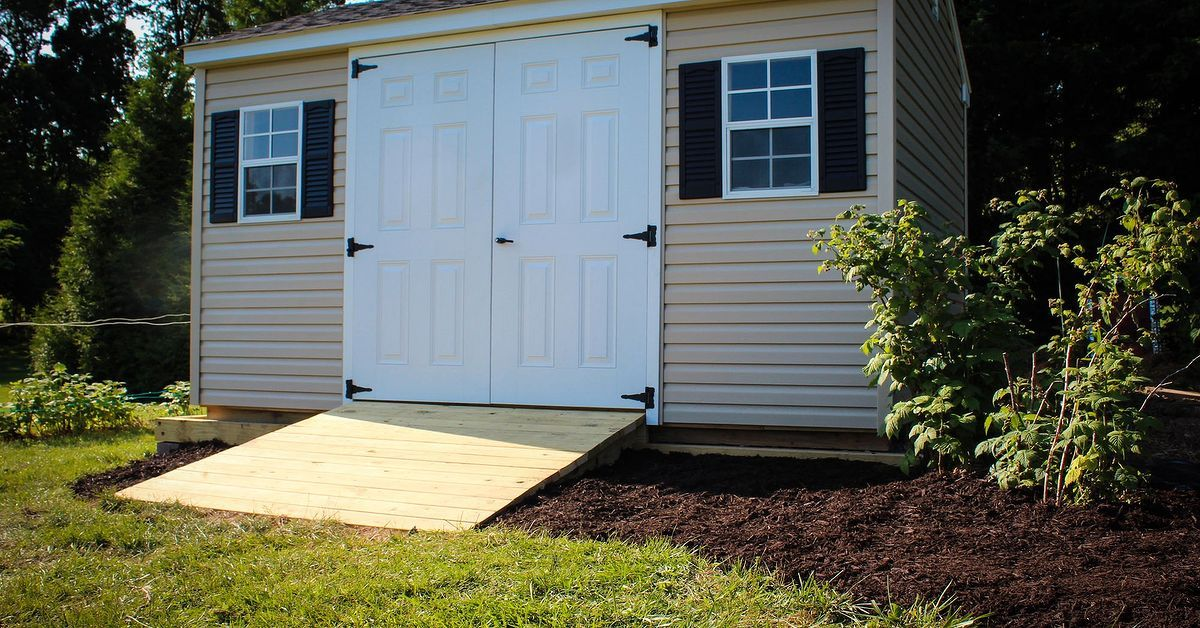 How to Build a Shed Ramp Shed ramp, Building a shed