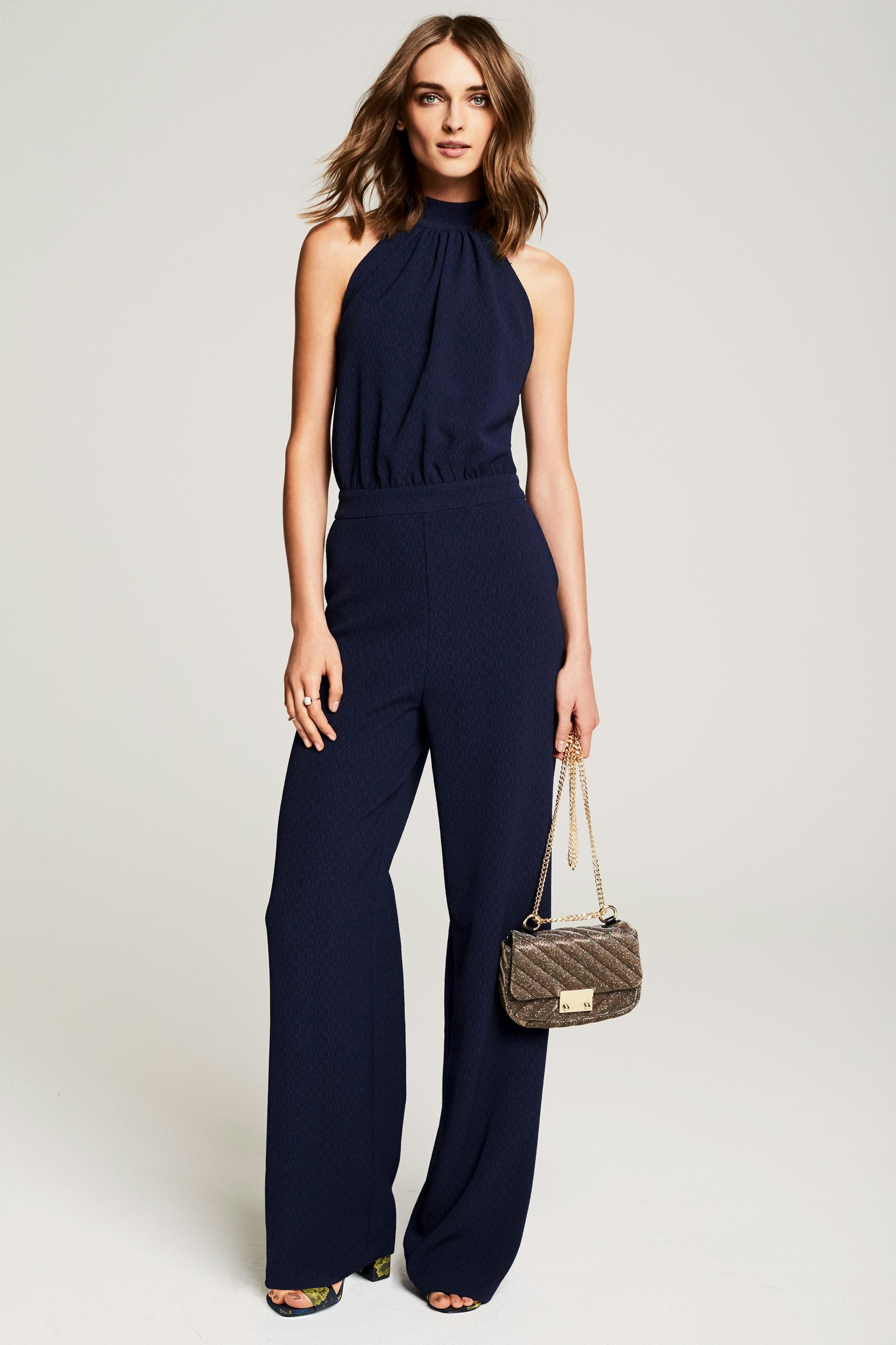 6efdc4122020c Buy Navy Strap Back Jumpsuit from the Next UK online shop | Office ...