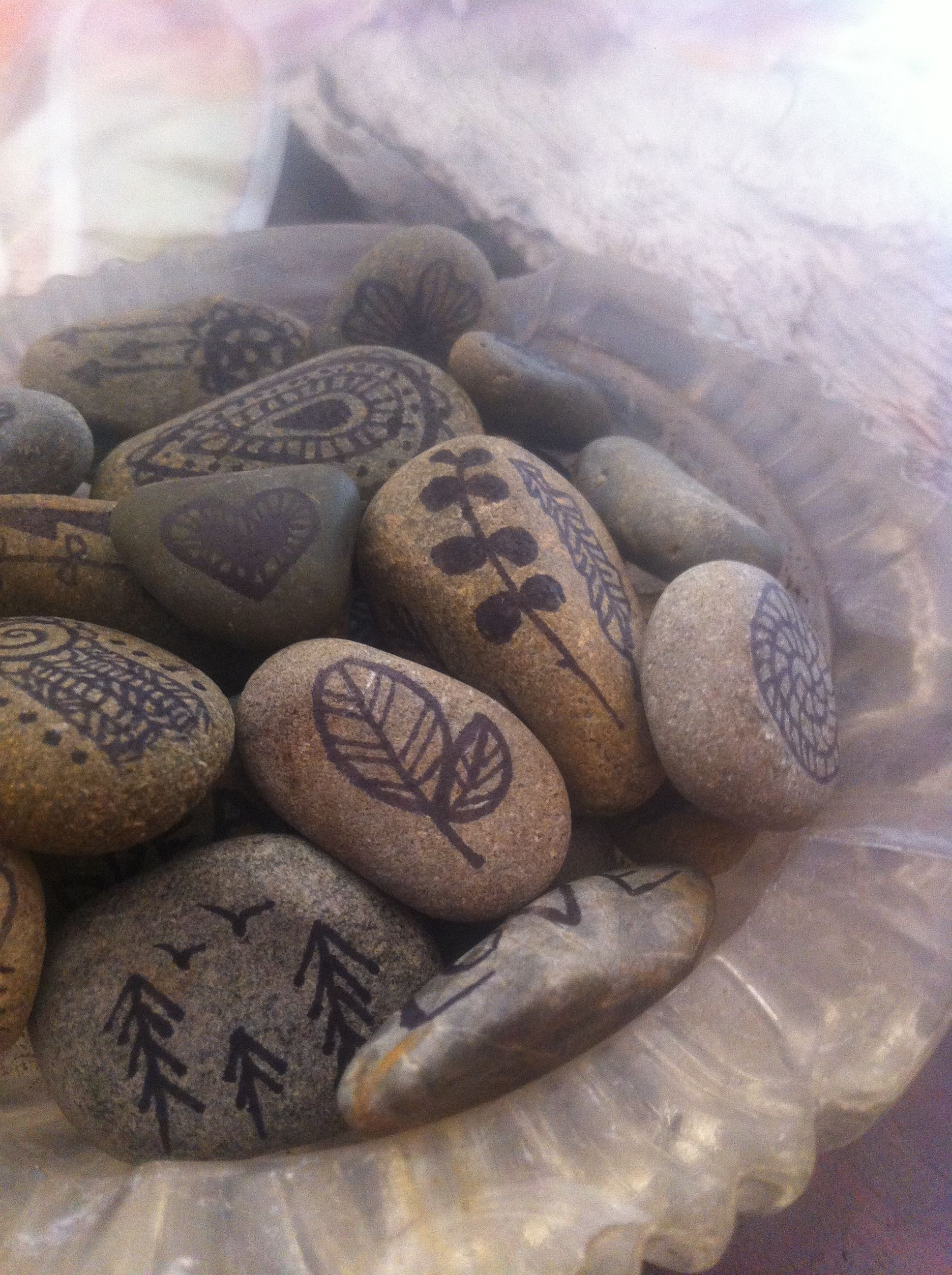 Drawing On River Stones Not A New Idea But Cute None The