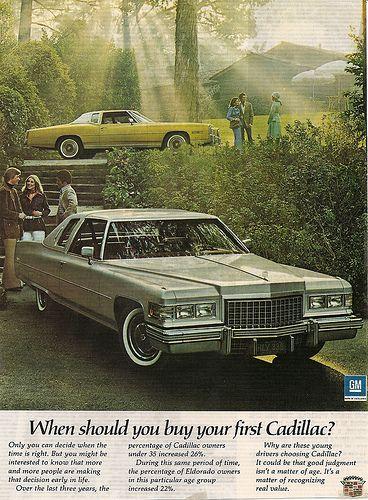 """ELDORADO FLEETWOOD NOS 1974 CADILLAC COLOR BROCHURE 12/"""" X 12/"""" DEVILLE"""