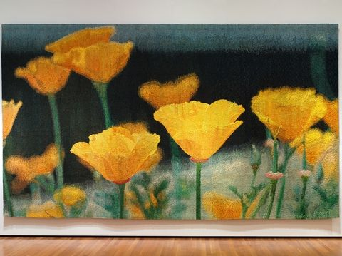 """""""Poppies,"""" 1978, by Helena Hernmarck. From the collection of the Cleveland Museum of Art. (Image courtesy of the American Swedish Institute)"""