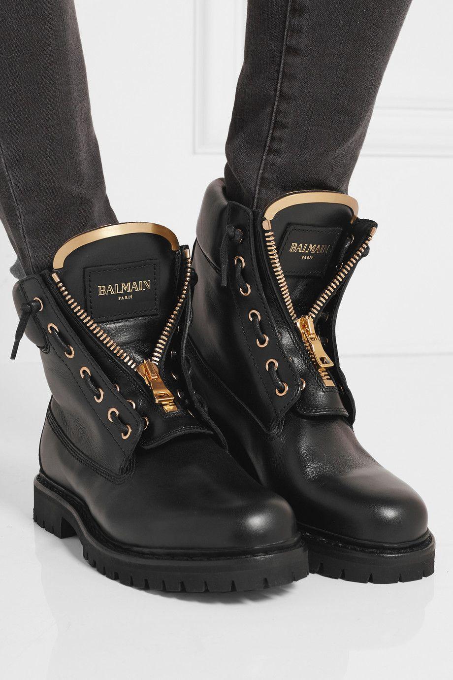 Balmain Rangers En Cuir Net A Portercom Shoe Lust