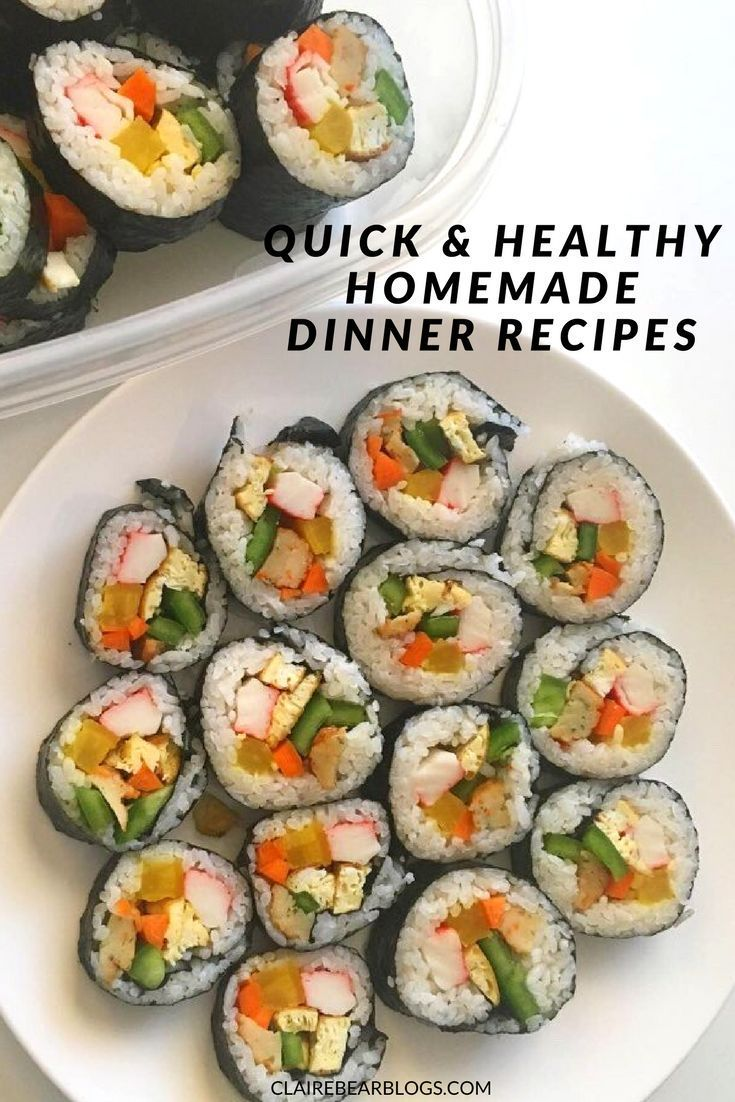 5 quick and healthy homemade dinner recipes clairebearblogs