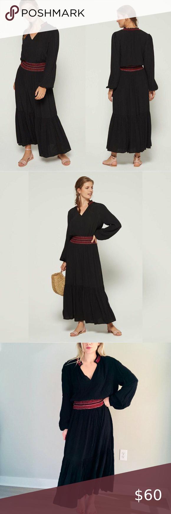 Gap Smocked Maxi Dress Black Red L Nwt 357800 Maxi Dress Pattern Smocked Maxi Dresses Maxi Dress Pattern Sewing [ 1740 x 580 Pixel ]