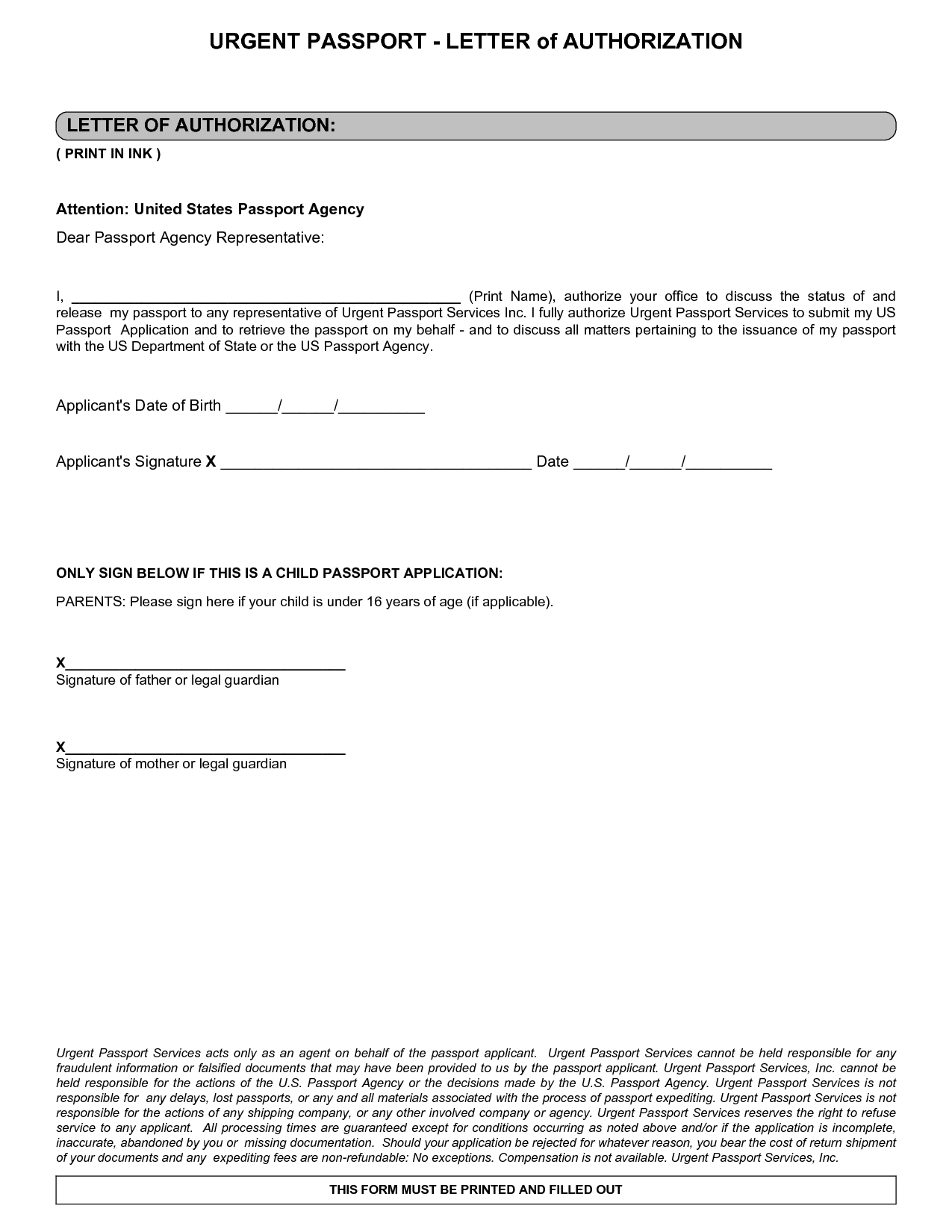 Authorization Letter Sample And Notarized Child Travel Consent