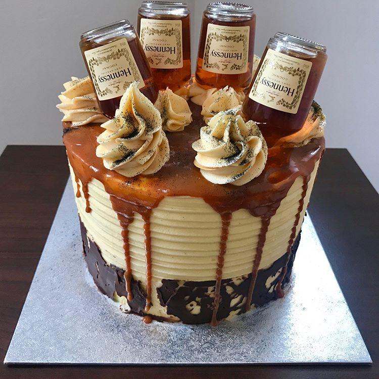 hennessy birthday cake for her