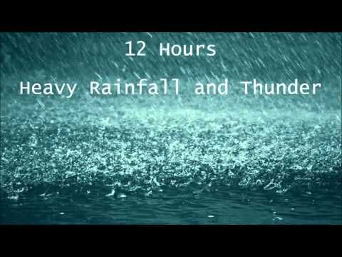 12 Hours Heavy Rainfall With Thunder Ambient Sounds La Lluvia Del Sueno Youtube Sound Sleep Sound Of Rain Rain And Thunder Sounds