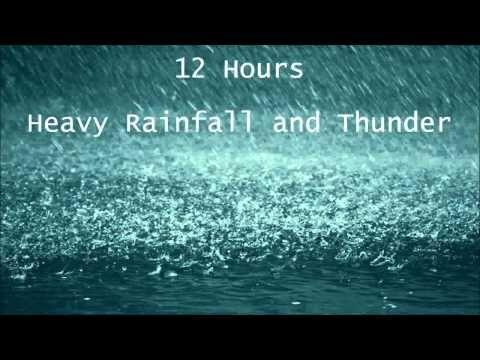 12 Hours Heavy Rainfall With Thunder Ambient Sounds La Lluvia Del Sueno Youtube Sound Sleep Sound Of Rain Rain And Thunder Sounds