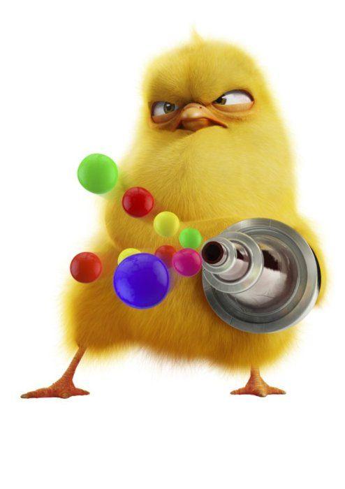 Angry Bird Plays Paint Ball Rainbow Colors Groupcommunity