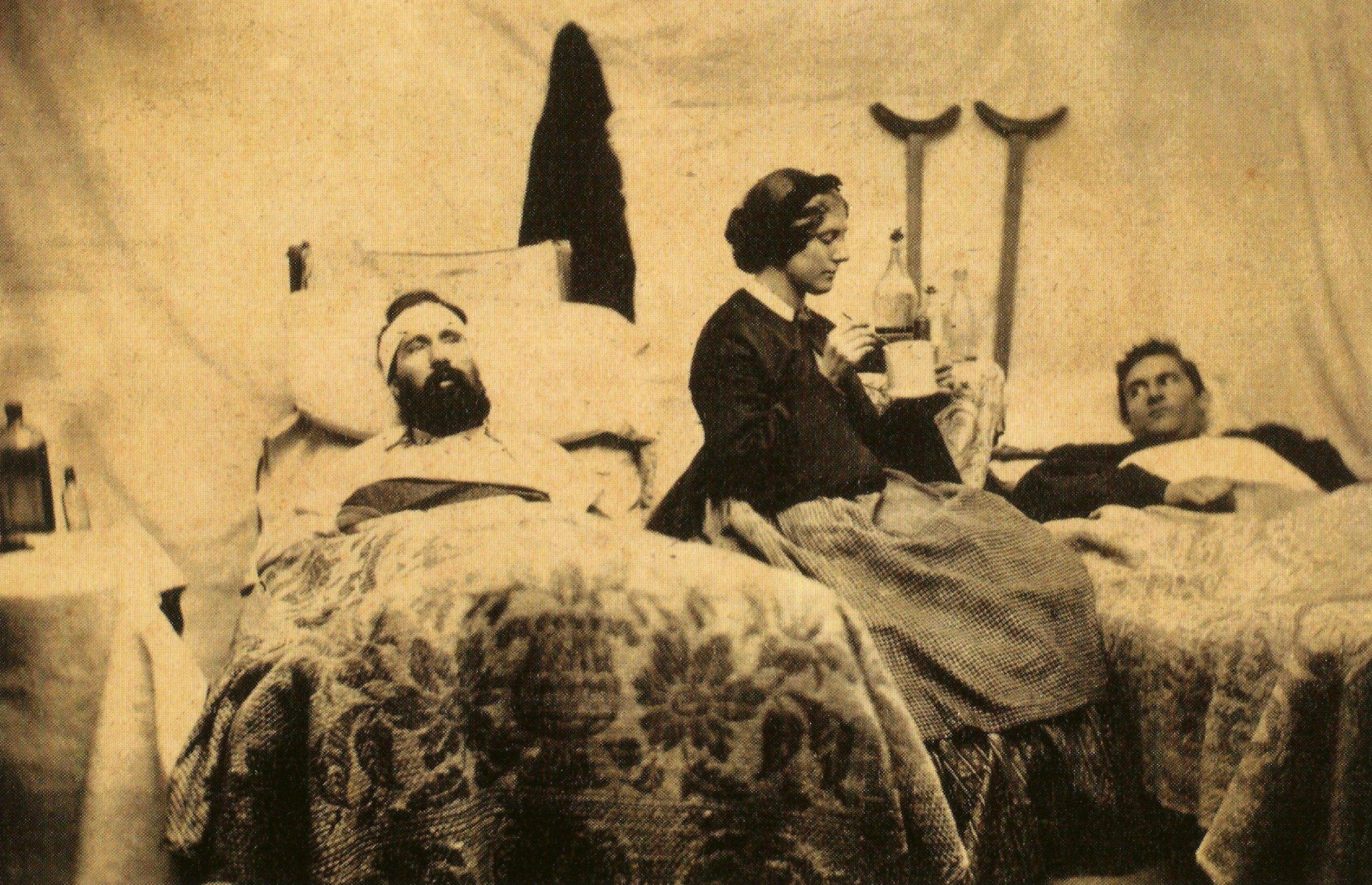 Field hospital tent. Is she a Sanitary Commission nurse ...