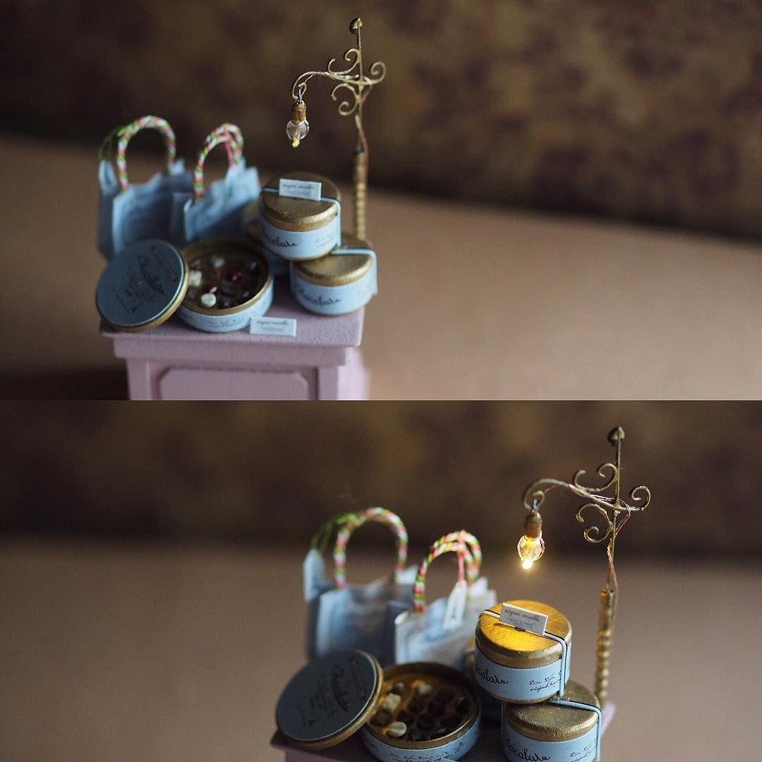 ❤︎ ・ original handmade miniature size 1/12 . 点灯💡 ・ ・ ・ ・ ・ #ミ二チュア#miniature#ライト #照明#点灯#電気#💡