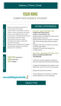 Header For Resume Student Resume Format Example With Dark Green Accents And Header .