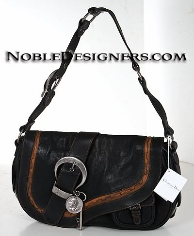 Christian Dior WAC44923 Gaucho Shoulder Bag Black Price    1 1a34a07968565