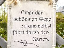 garten schild mit spruch aus beton gartenspr che. Black Bedroom Furniture Sets. Home Design Ideas