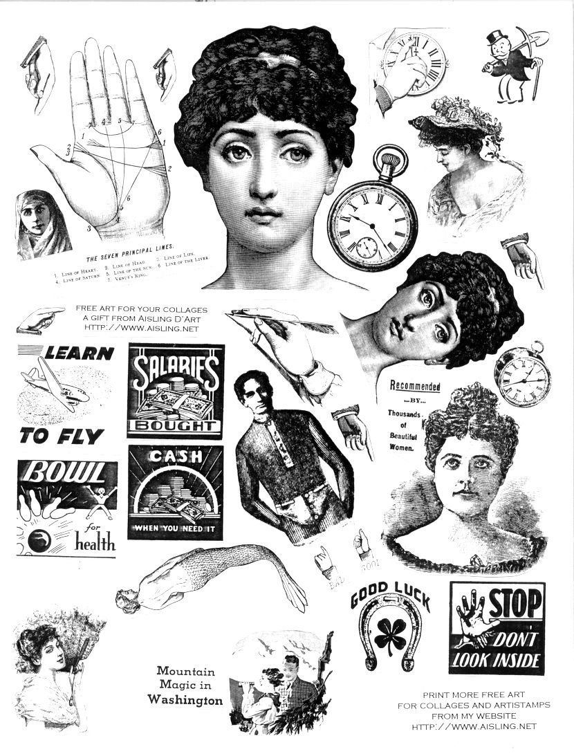 awesome clip art printables; several sheets. Victorian vintage