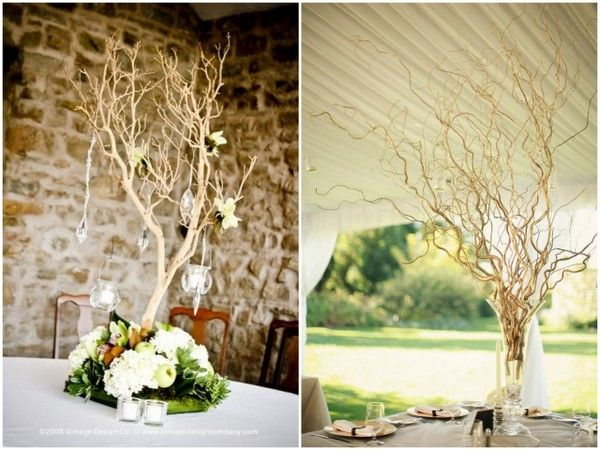 Decorating with natural branches manzanita for