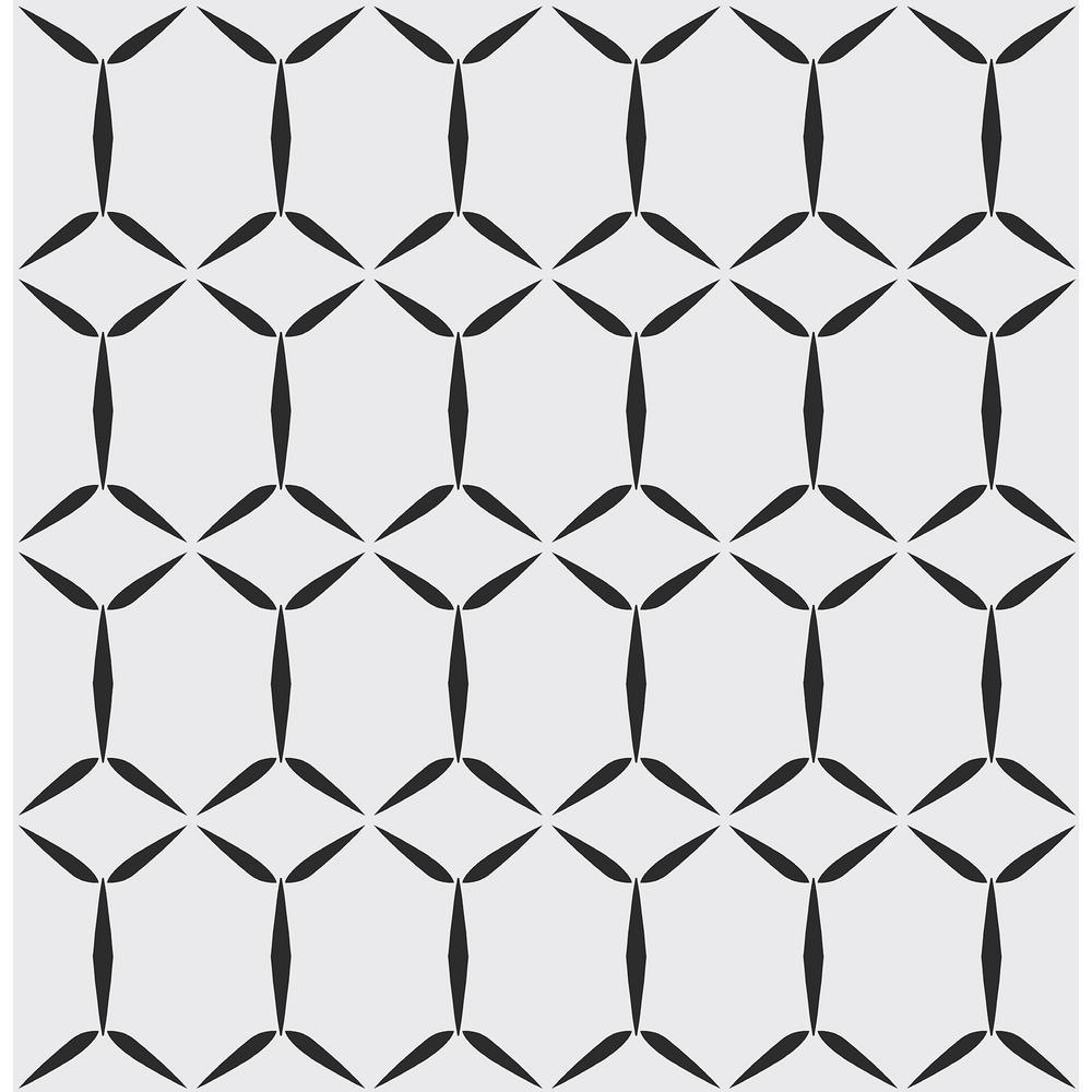 AStreet Fusion White Geometric Wallpaper Sample