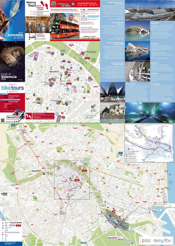 Valencia hotels and sightseeings map Maps Pinterest Valencia