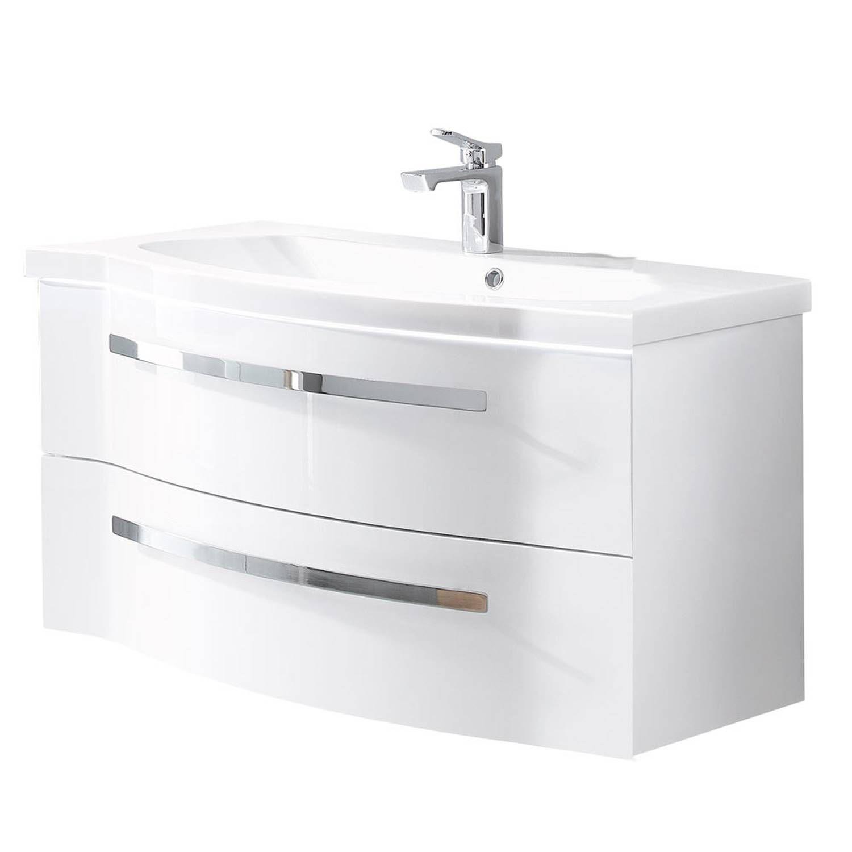 badmöbel weiß hochglanz 80 cm badschränke set günstig
