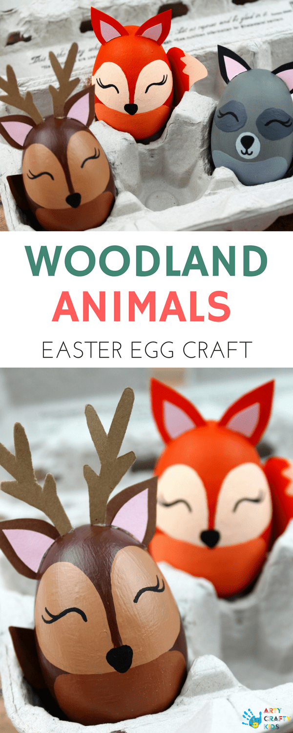 Woodland Animal Easter Egg Craft #animalcraftsforkids