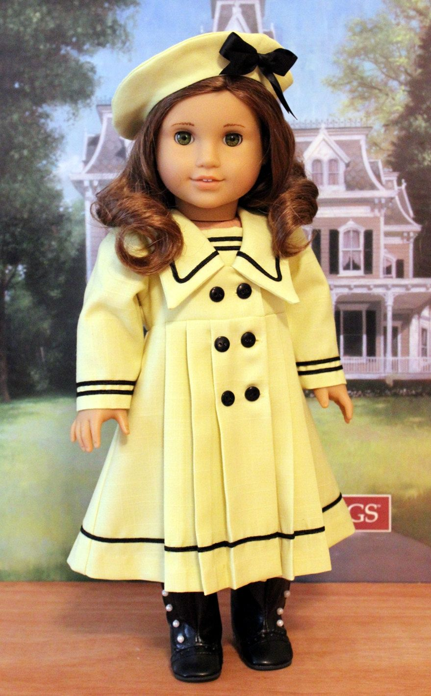 Special Order Yellow Middy Dress | Jette und Puppen