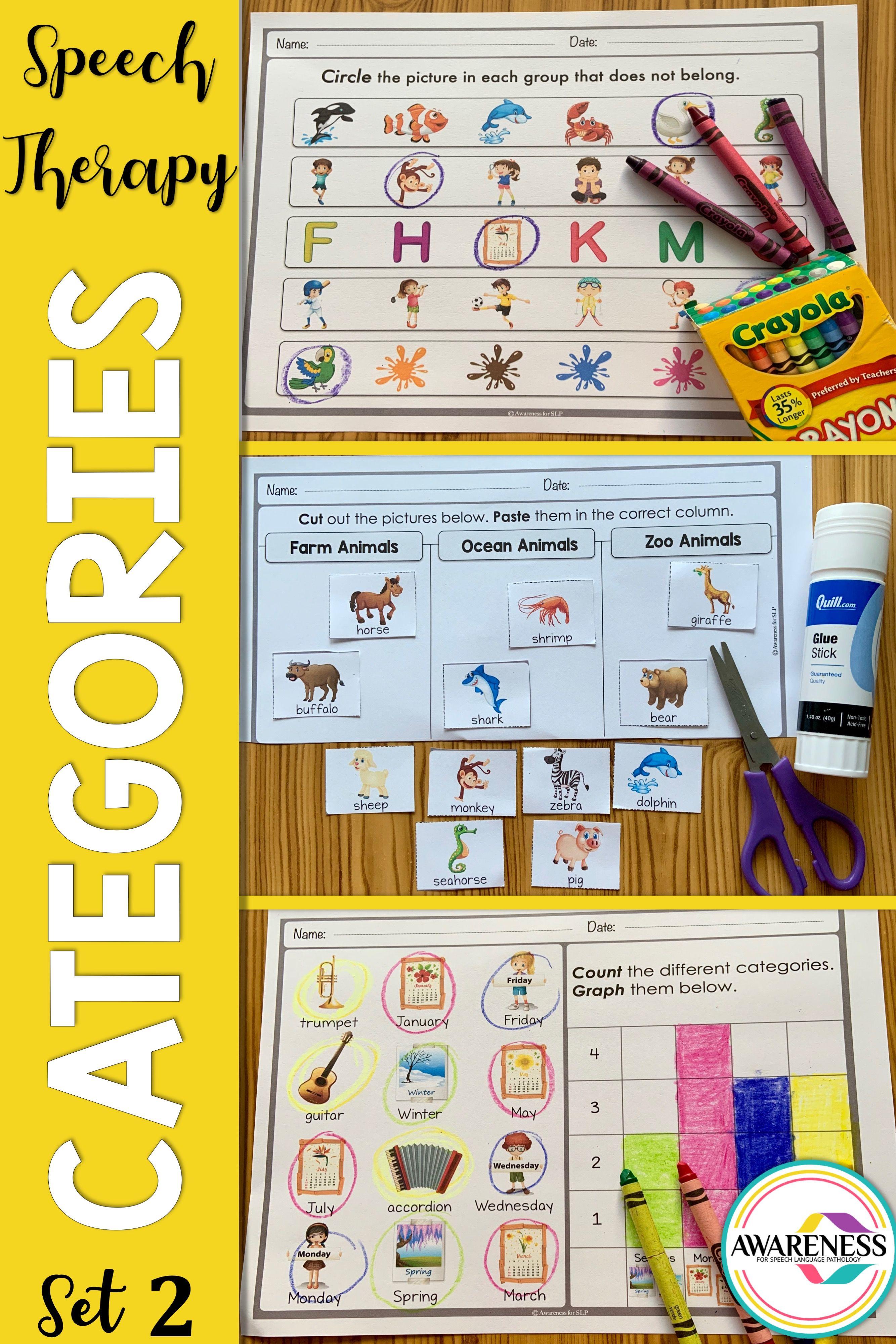 Categories Speech Therapy Activities
