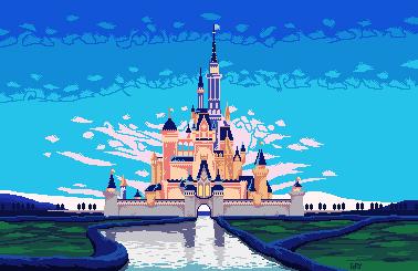Pixel Art Disney Castle By Corykeks Pixel Art Art Castle