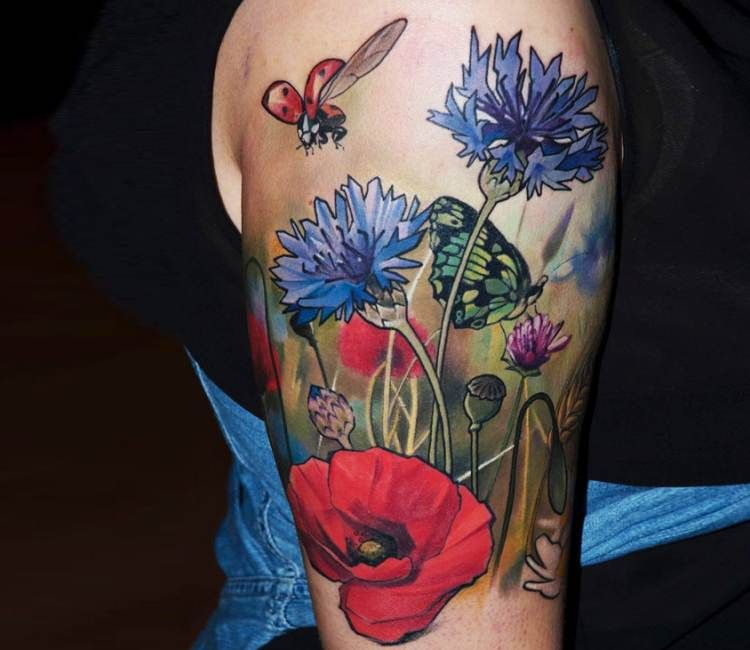Photo of Photo – Flowers in Nature tattoo by Matyas Halasz | Photo 19660