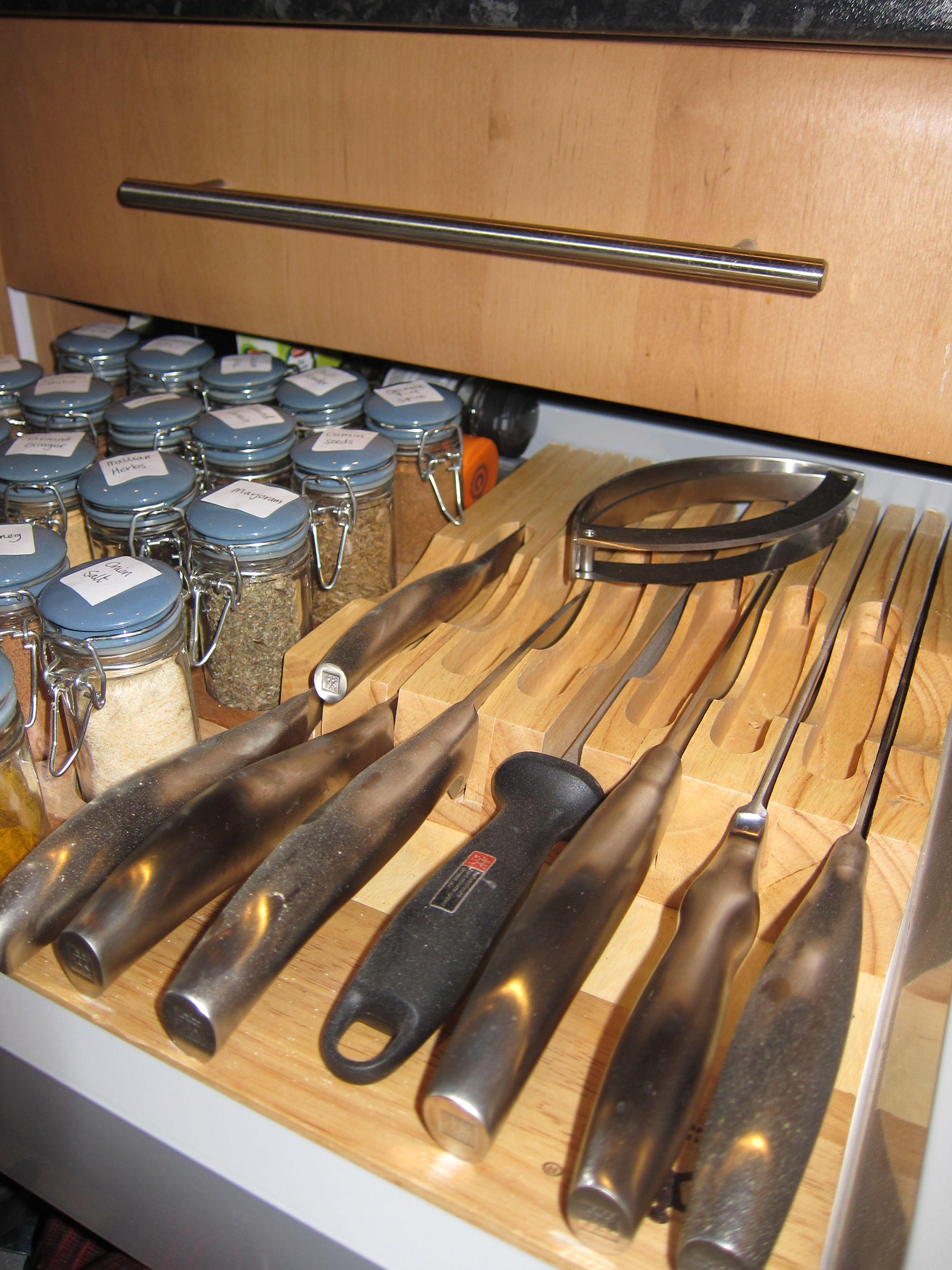 jamie oliver spice jars and henckels knife block in internal