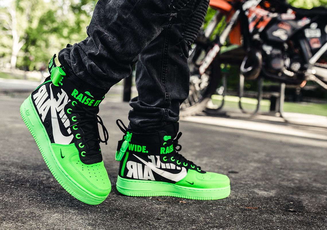 Athletic Shoes Nike SF AF1 Air Force 1 High Black Dynamic