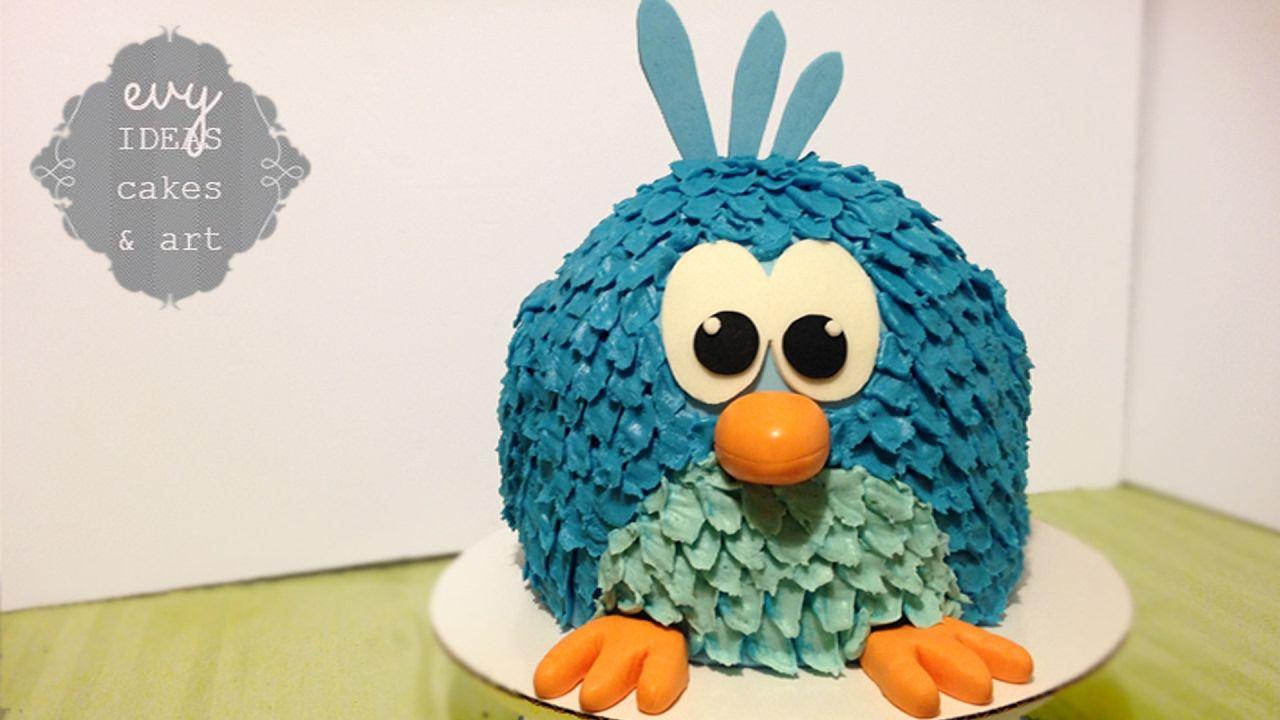 Groovy Bird Cake How To Make A Cute Cartoon Bird Birthday Cake Big 3D Personalised Birthday Cards Cominlily Jamesorg