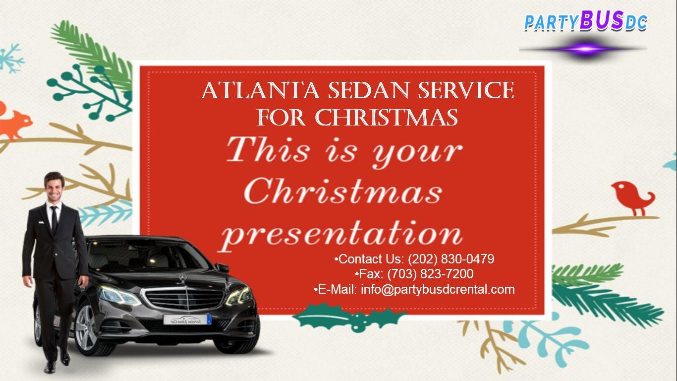 Atlanta Sedan Service for Christmas Black car service
