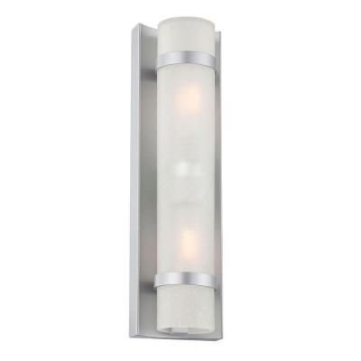 Acclaim Lighting Apollo Collection Wall Mount 2 Light Outdoor Brushed Silver Fixture 4701bs At The Home Depot