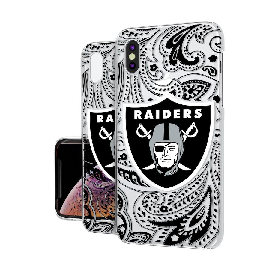 Las Vegas Raiders iPhone Clear Paisley Design Case in 2020