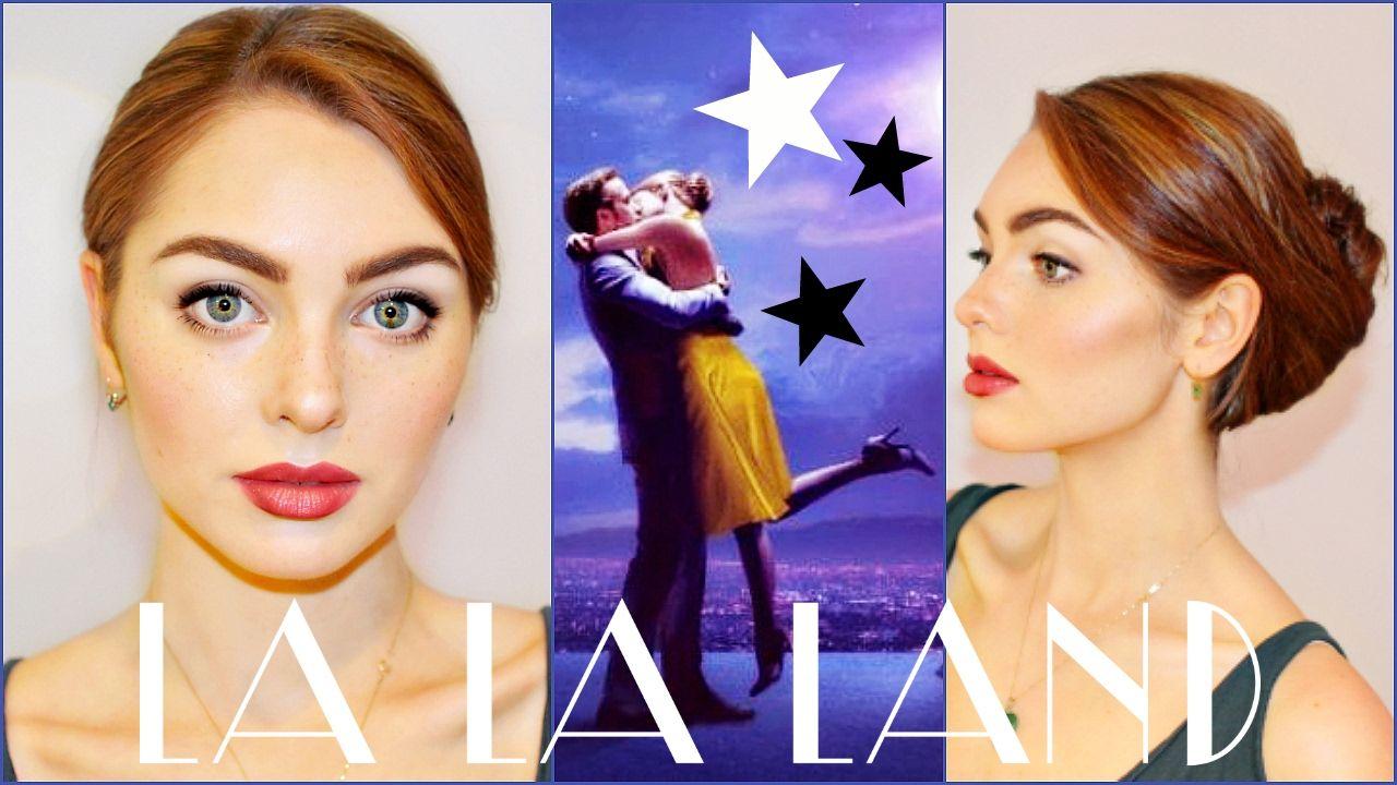 Emma Stone Mia In La La Land Makeup Hair Tutorial La La Land Updo Carnaval