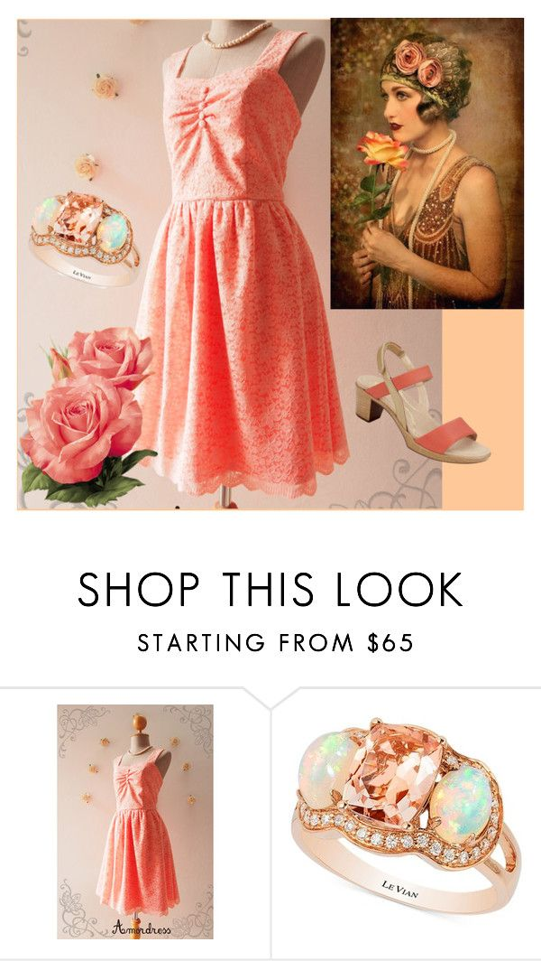 """""""Just Peachy-contest"""" by jeannierose ❤ liked on Polyvore featuring LE VIAN and Naot"""