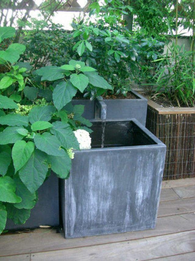 Installer une fontaine de jardin moderne | Garden inspiration ...