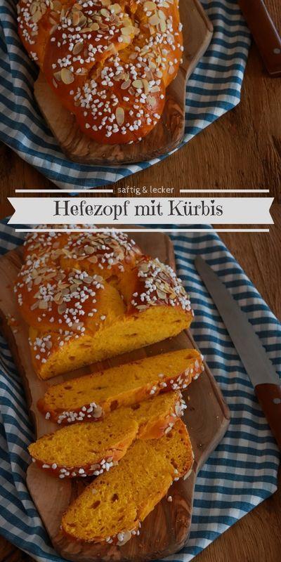 Hefezopf mit Kürbis: Saftiges und lockeres Herbstgebäck mit toller Farbe | Cookie und Co