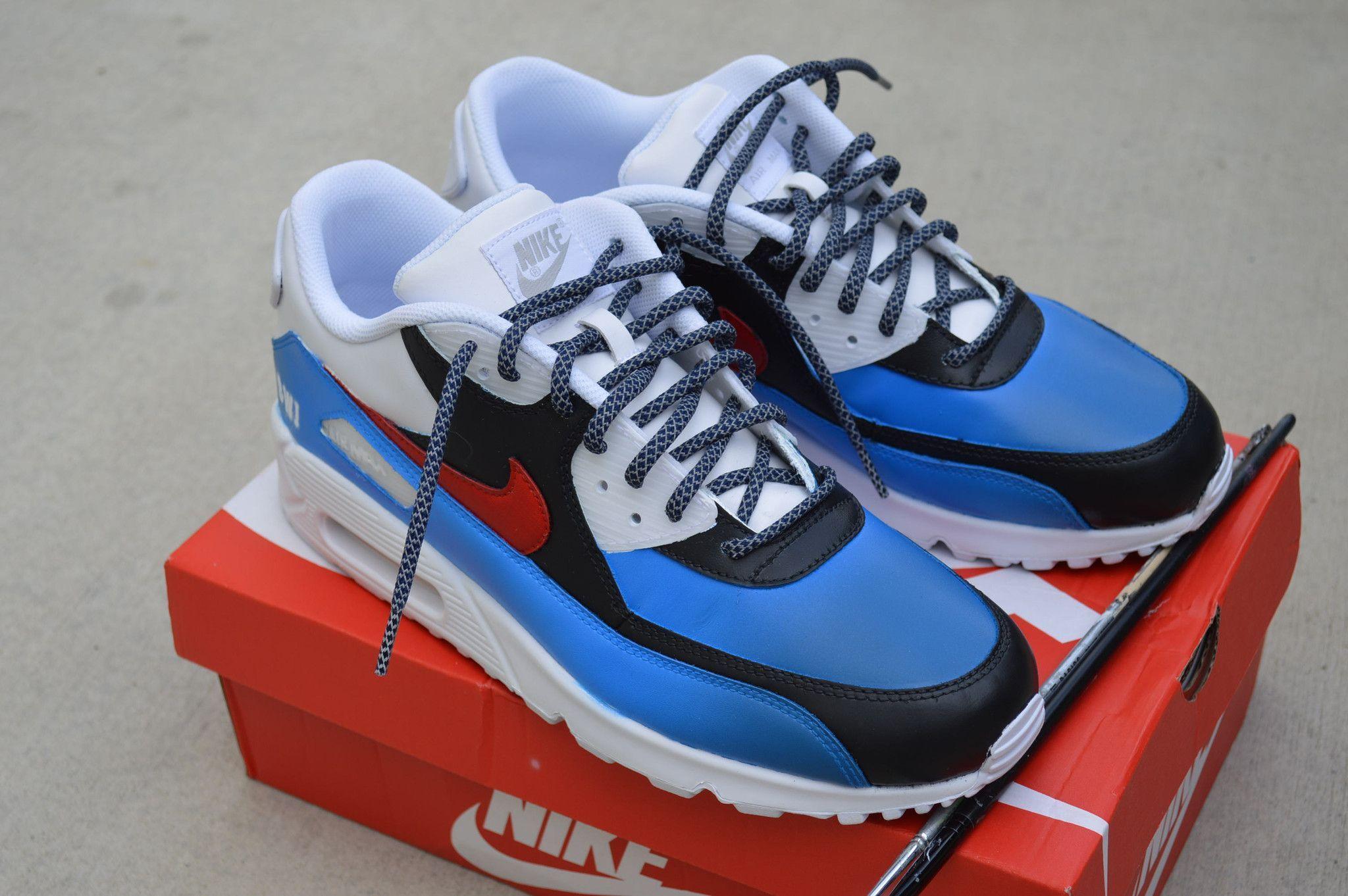 loopschoenen Aangepaste Max Nike thema Amerika 90 Air handgeschilderde X8fnxraW8