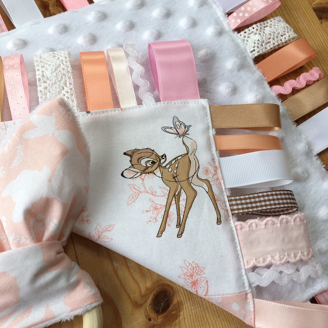 Thumper PATCHWORK TAGGY Soft Baby Blanket  Personalised