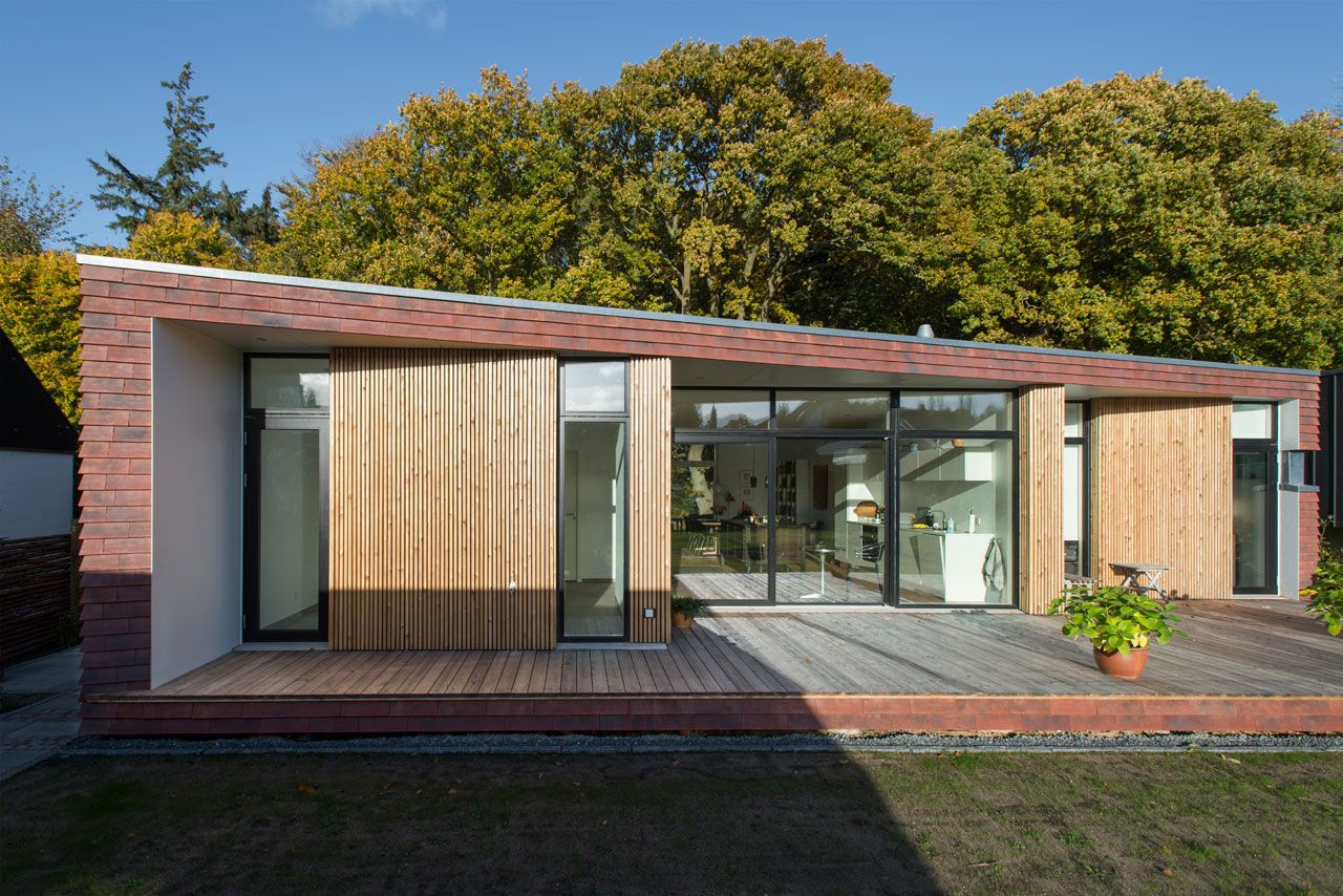 Villa Rypen A Modern House On The Edge Of A Forest In Aarhus Denmark Modern Brick House Architecture Danish House