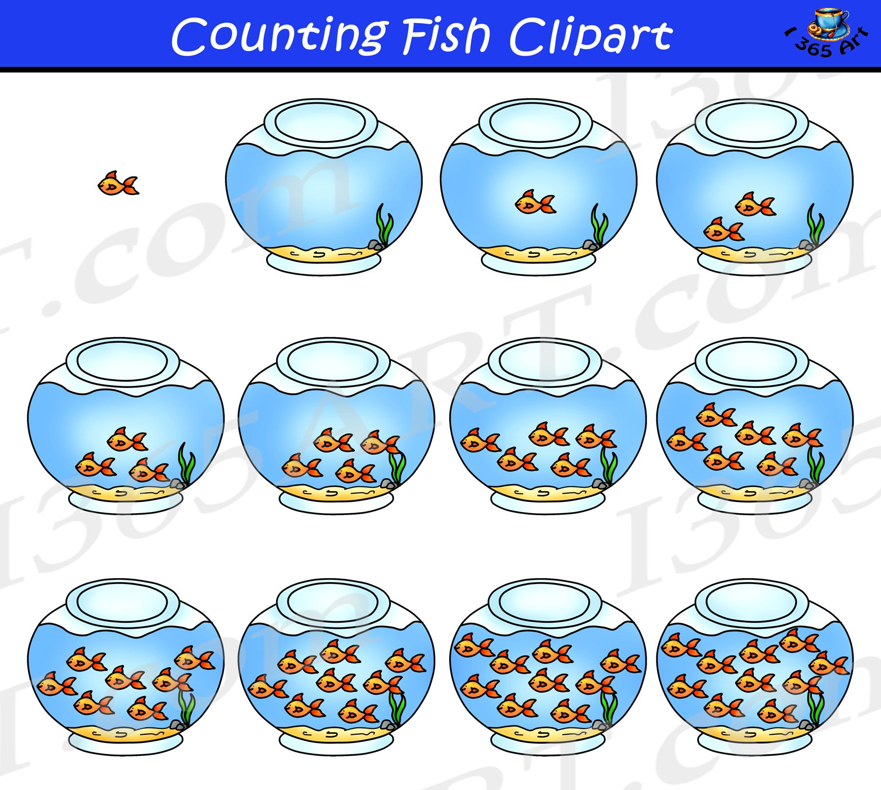Counting Fish Worksheet For Preschool