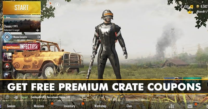 How To Get Free Premium Crate Coupon On Pubg Mobile 2019 Battle