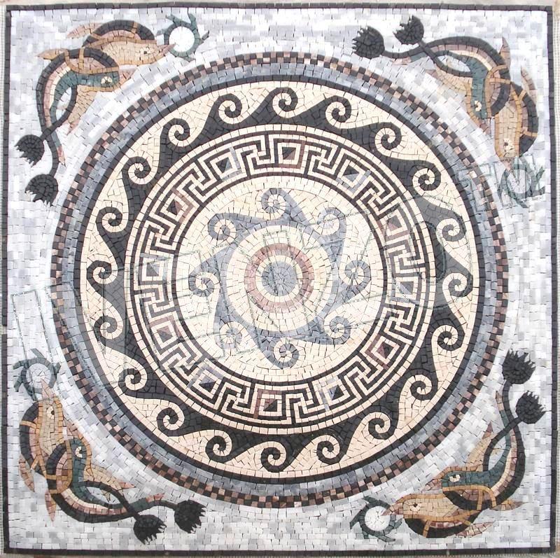 Mosaïque CK027 tapis roman