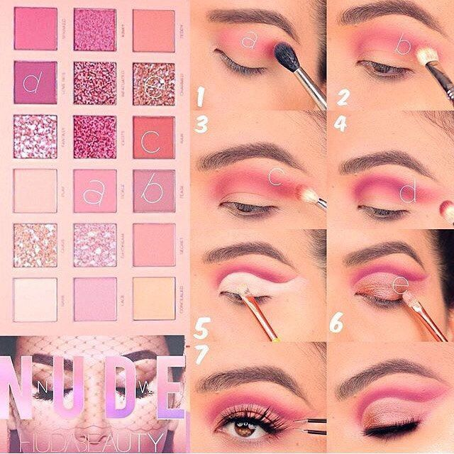 Photo of Huda Beauty Makeup Palette Eye Makeup Step by Step Instructions #anleit …
