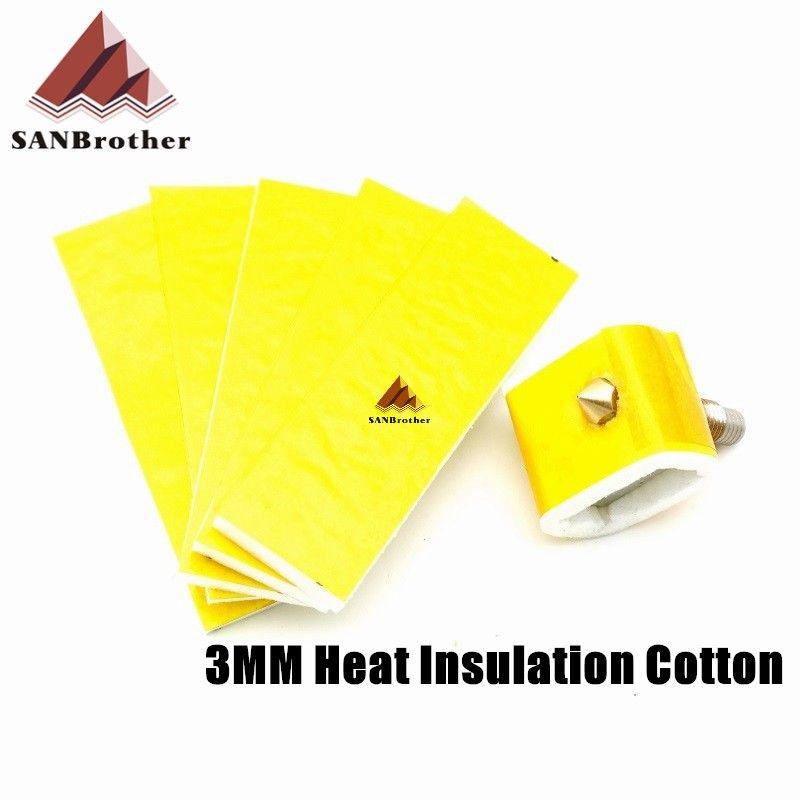 3mm Thick 3D Printer Heating Block Cotton Hotend Nozzle Heat Insulation 5PCBLUS
