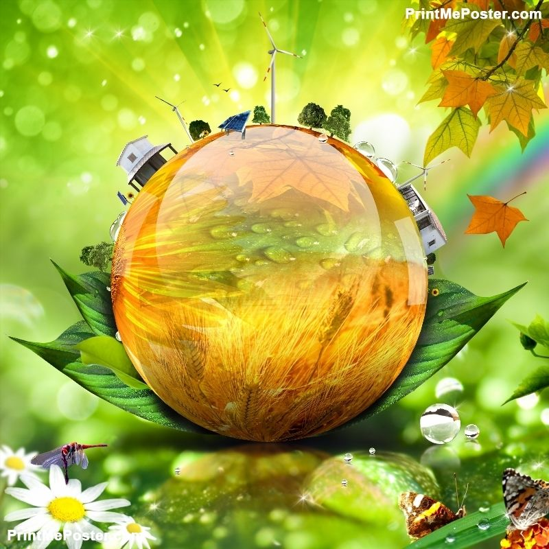 Green world concept poster | Photography backdrops, Theme ...