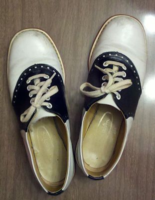 96cbc6f37eda2 Thom McAn saddle shoes are one of my most fav! | When I Was Young ...