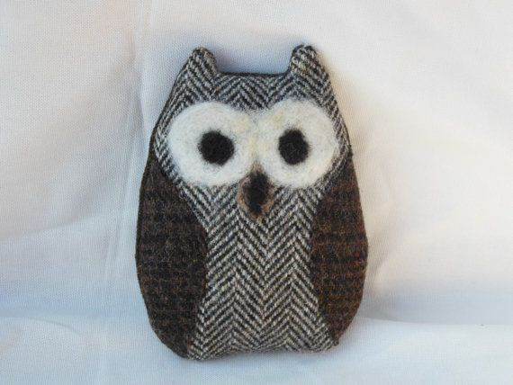 Small Tweed Owl Ornament